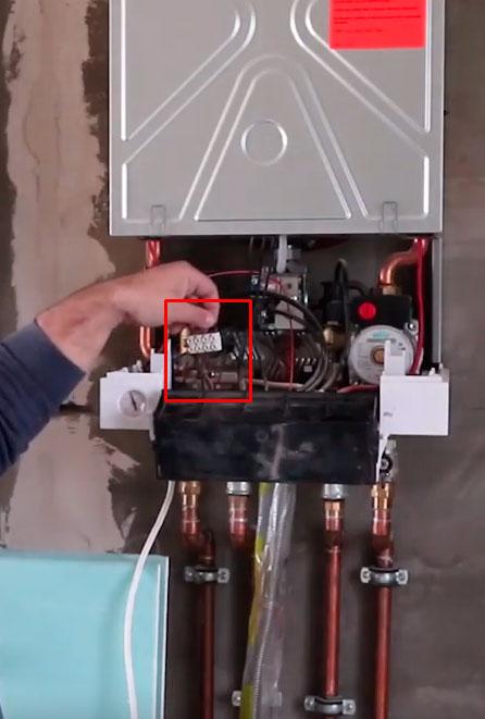подключение термостата на газовом котле Viessmann