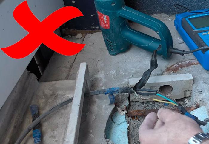 как нельзя подключать греющий кабеля изоляция изолентой