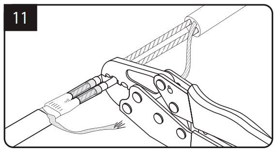подключение кабеля 220в и греющего кабеля