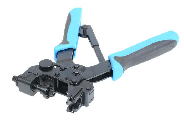 обжимной инструмент для компрессионных зажимов видеонаблюдения