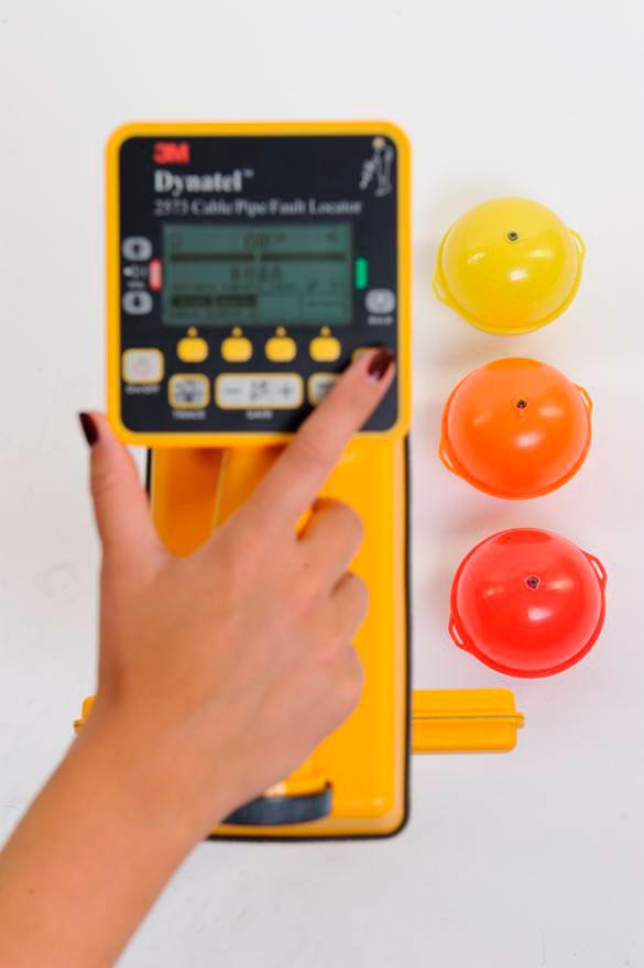 защитный маркер апельсин для подземного кабеля