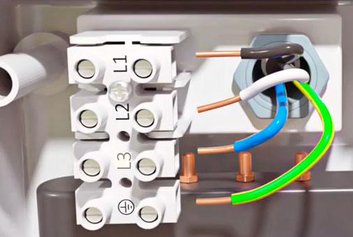 схема подключения трехфазного водонагревателя