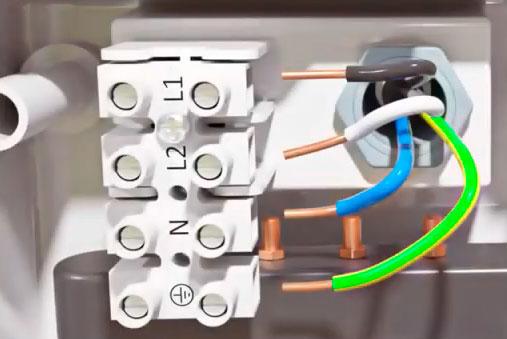 схема подключения проточного водонагревателя на 380В