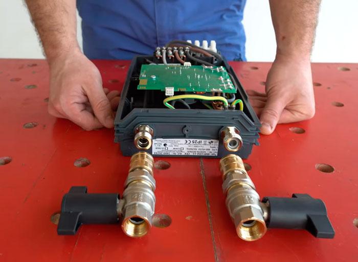 установка вентиля на проточный водонагреватель