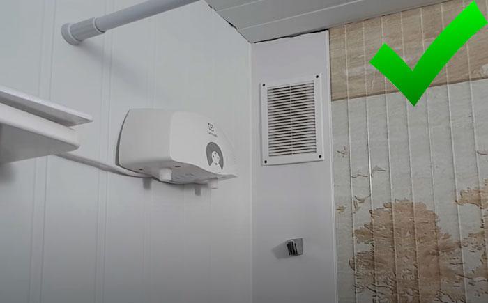 ошибки при установки проточного водонагревателя где нельзя