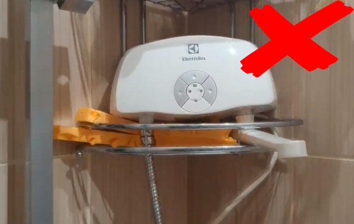 как нельзя устанавливать проточный водонагреватель из-за чего он сгорает