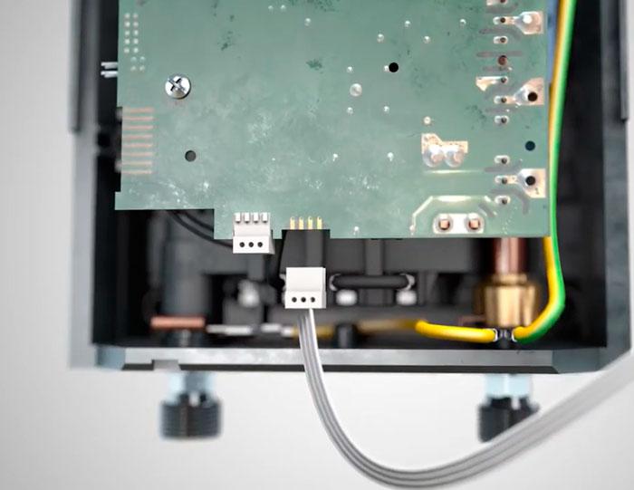 отключение шлейфа на плате управления нагревателя