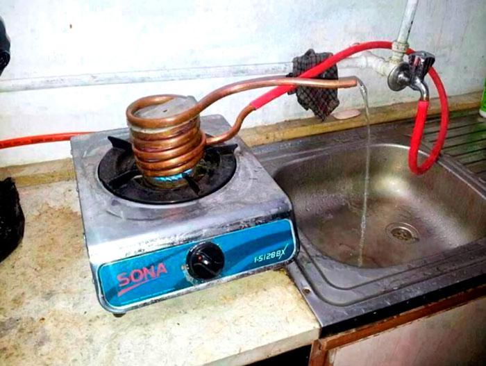 самодельный нагрев горячей воды