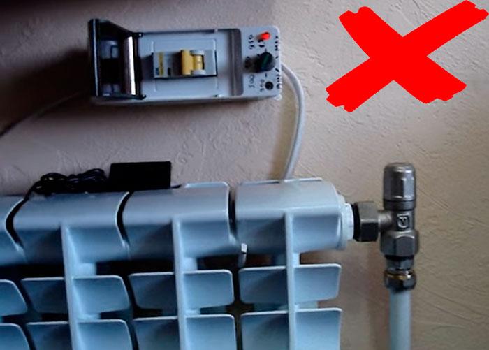 почему нельзя подключать батарею с тэном через автомат