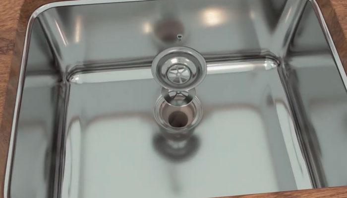 демонтаж решетки раковины
