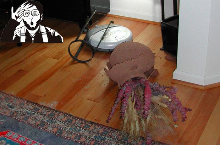 результаты ударов о мебель роботом пылесосом