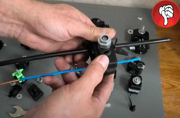 перепутал стороны подключения СИП и кабеля отвода на прокалывающем зажиме