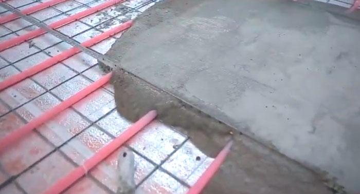 толщина стяжки под электроводяной теплый пол