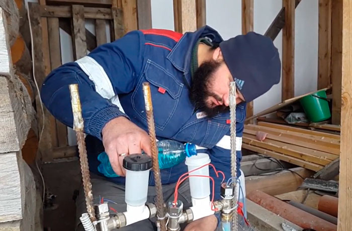 как слить и залить антифриз в электроводяной теплый пол